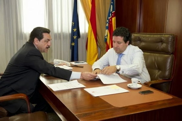 Francisco Martínez y Javier Moliner. Foto: Compromís.