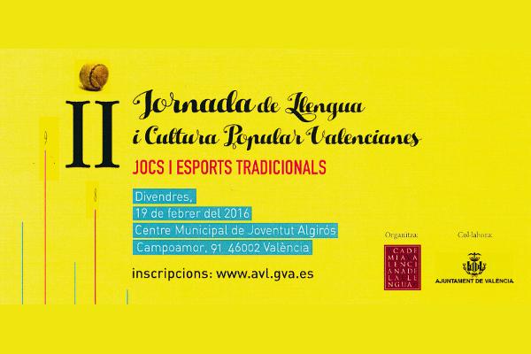 II Jornada de Llengua i Cultura Popular Valencianes