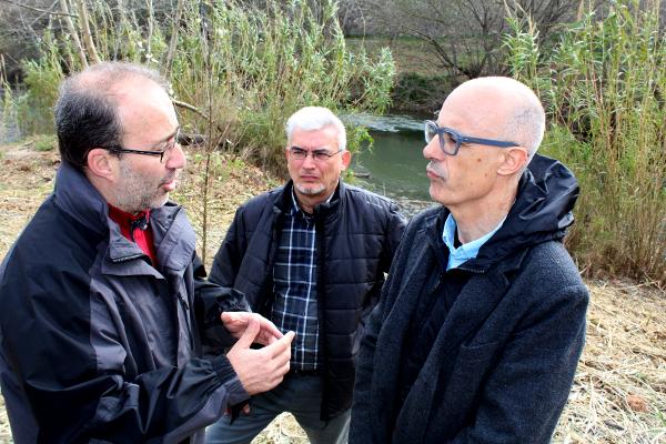Àlvaro, Gómez i Carreres a Alzira. Foto: Ajuntament d'Alzira.