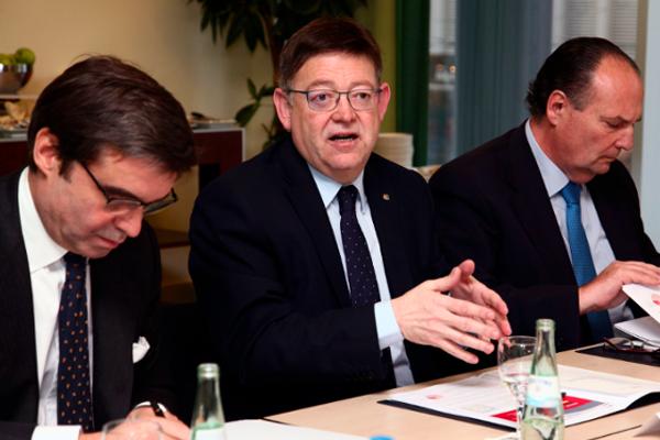 Ximo Puig, José Vicente Morata i Pablo García-Berdoy Cerezo